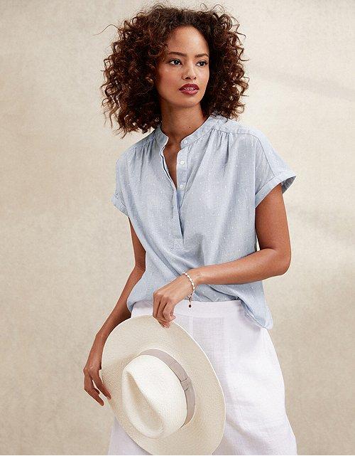 f93826085 Tops & T-Shirts | Cotton, Linen & Silk | The White Company UK