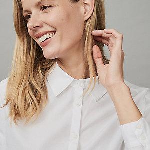 Cotton Side-Vent Shirt