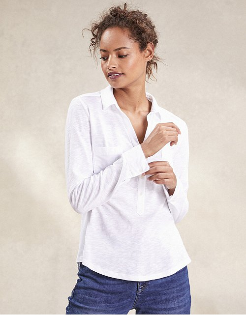 c7f7b0f32a Tops & T-Shirts | Cotton, Linen & Silk | The White Company UK