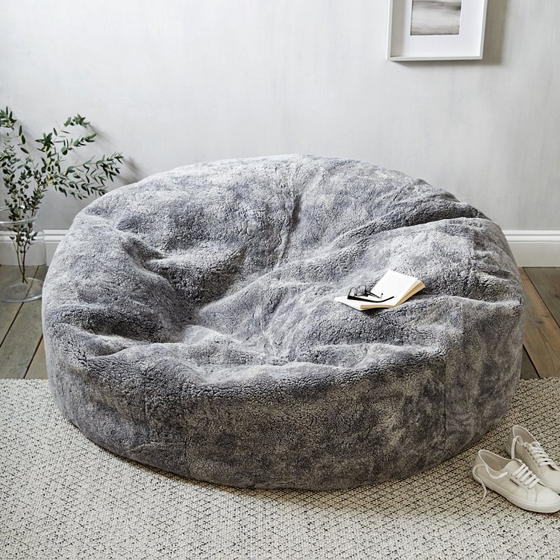 Astonishing Curly Sheepskin Beanbag Ibusinesslaw Wood Chair Design Ideas Ibusinesslaworg