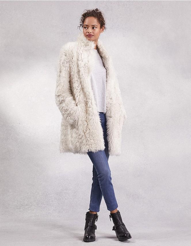 Curly Sheepskin Coat Jackets Coats, Fur Coat White Company