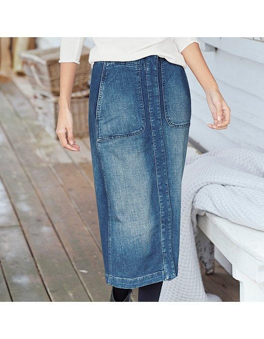 attractivedesigns cheap Clearance sale Denim Midi Skirt