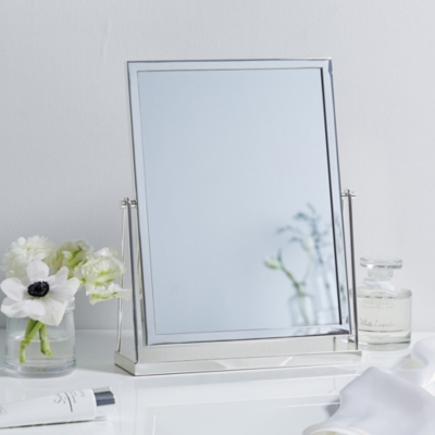 Dressing Table Mirror Home The, White Dressing Table With Fold Down Mirror