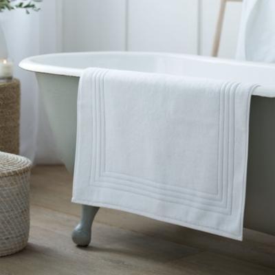 Egyptian Cotton Bath Mat - White