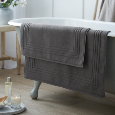 Luxury Egyptian Cotton Bath Mat - Slate