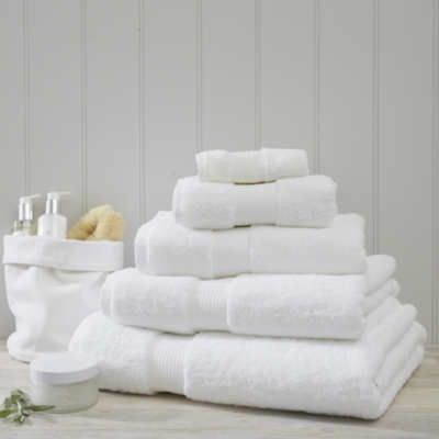 Luxury Egyptian Cotton Towels - White