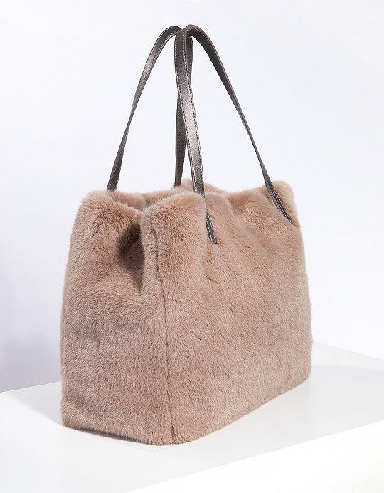 1c1fa0331003 Faux-Fur Tote Bag