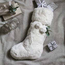 Luxury Christmas Stockings Uk.Christmas Stockings Luxury Knitted Stockings The White