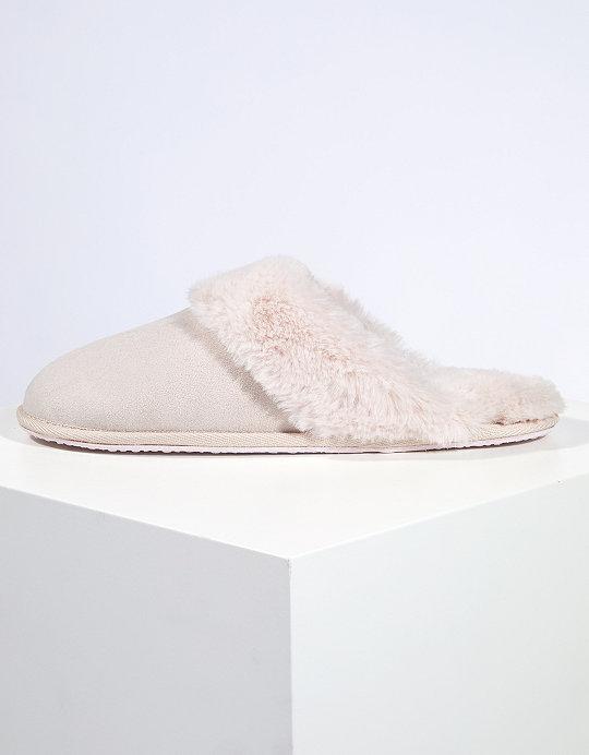 1ad7eaafd74c0 Faux-Fur Mule Slippers   Slippers & Socks   The White Company UK