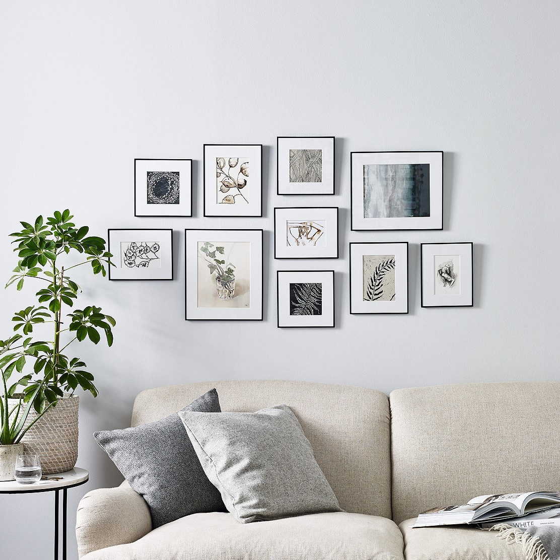 Fine Black Large Picture Gallery Wall