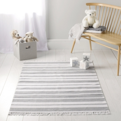 Grey Stripe Rug Childrens Home Sale The White Company Uk