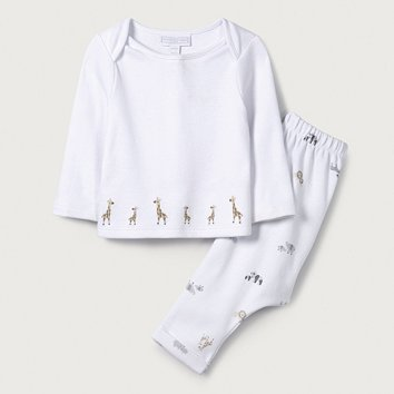 475d11dabf385 Giraffe Embroidered Pyjamas