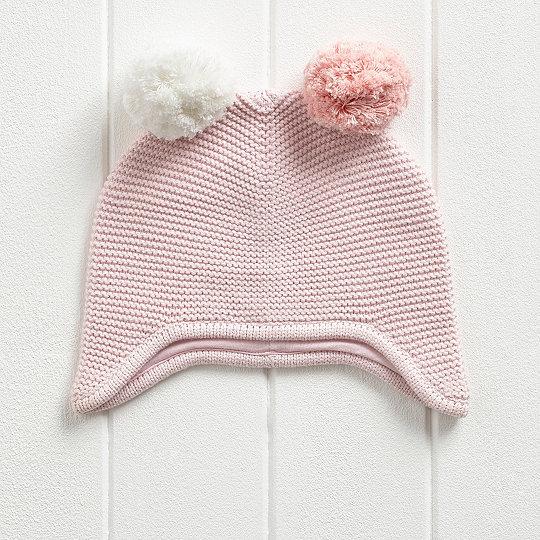 52d9e00f065 Girls Contrast Pom Pom Hat