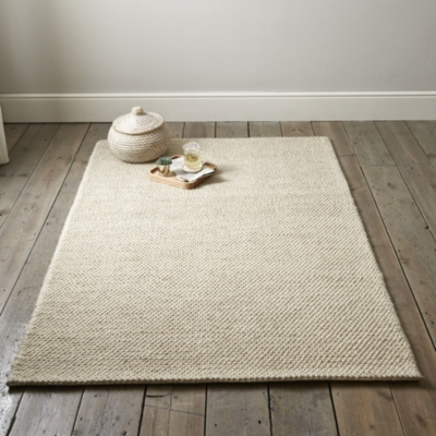 Hampton Looped Wool Rug  - Ivory