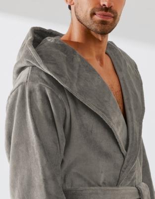 Unisex Velour Hooded Robe  7235588e9