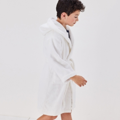 Hydrocotton Hooded Robe (5-12yrs) - White