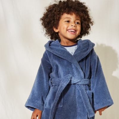 Hydrocotton Robe with Ears (1-5yrs) - Blue
