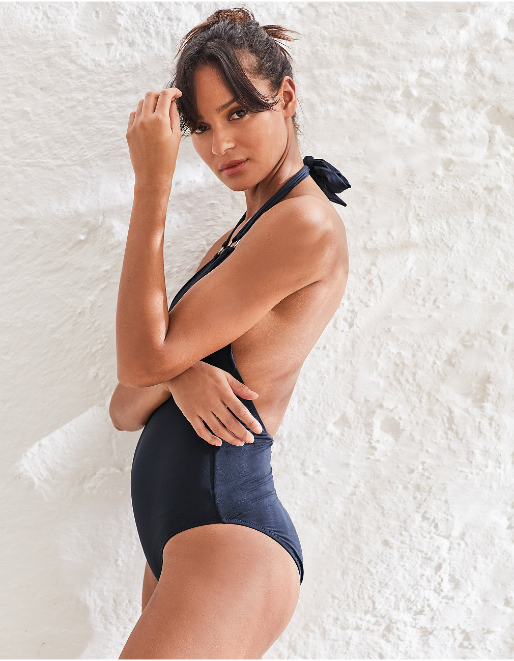 b32c8e03184 Halterneck Ring Detail Swimsuit. Press to zoom. Swipe for more images.