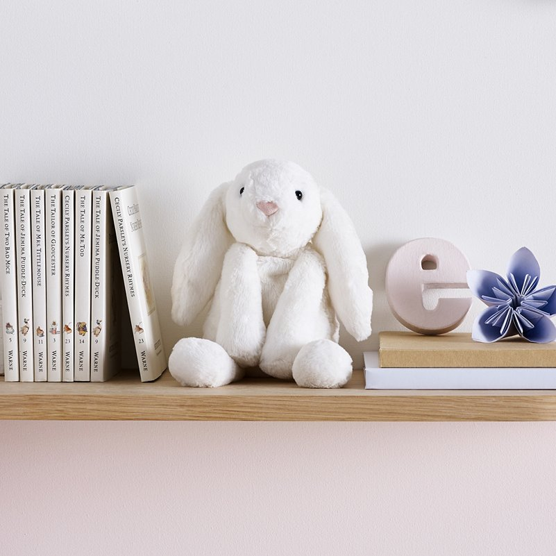 JELLYCAT MINI WHITE SMUDGE BUNNY TOY
