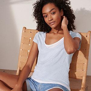 Jersey Linen Double Layer T-Shirt
