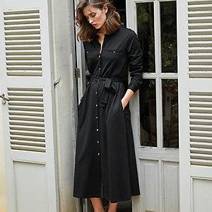 Jersey Utility Pocket Midi Dress