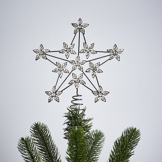 Jewelled Star Christmas Tree Topper