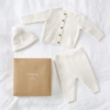 Knitted Organic Cotton Boxed Baby Gift Set
