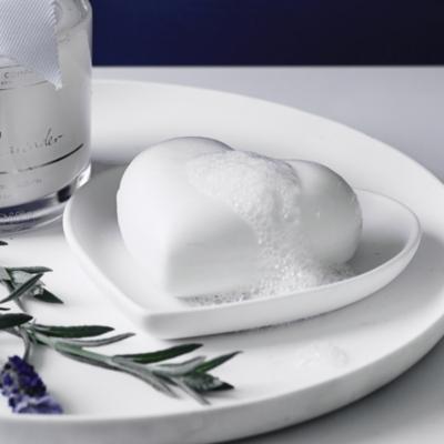 White Lavender Heart Soap