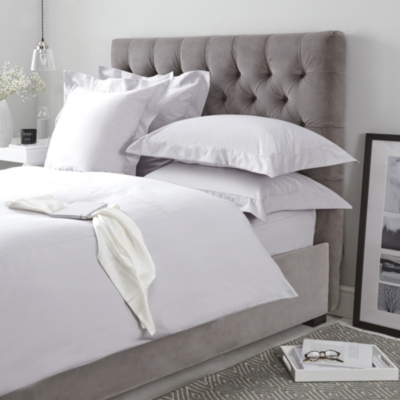 Lancaster Oxford Pillowcase - Silver Gray