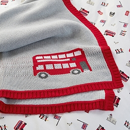 London Knitted Blanket