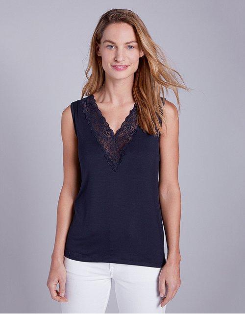 718b24023cb Tops & T-Shirts | Cotton, Linen & Silk | The White Company UK