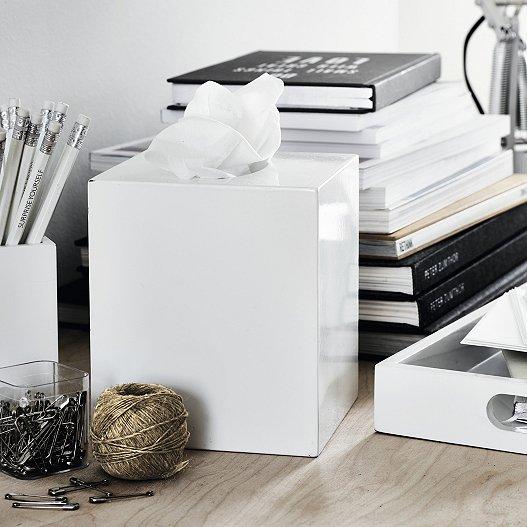 Lacquer Tissue Box Cover Home
