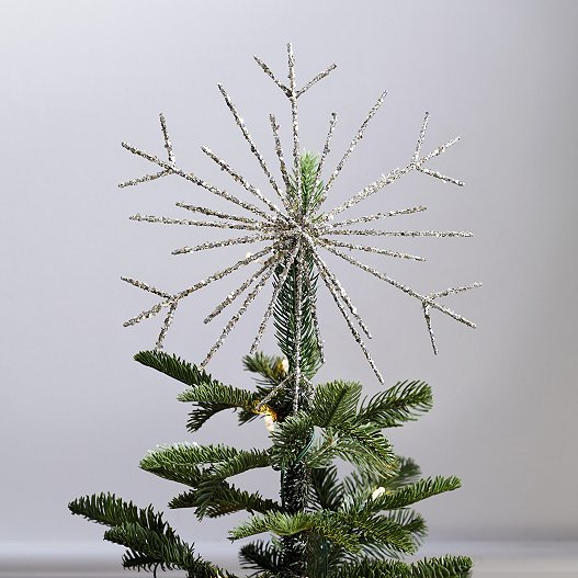 Christmas Tree Topper.Large Glitter Snowflake Christmas Tree Topper
