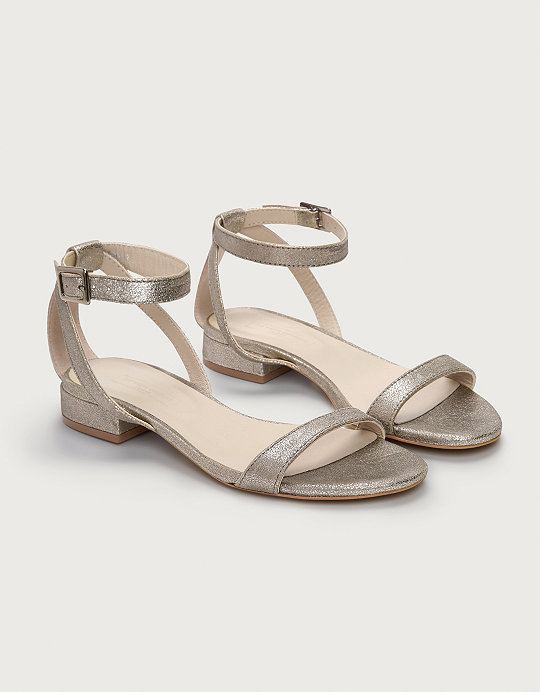 b791d5aac85d Leather Low Heel Sandals