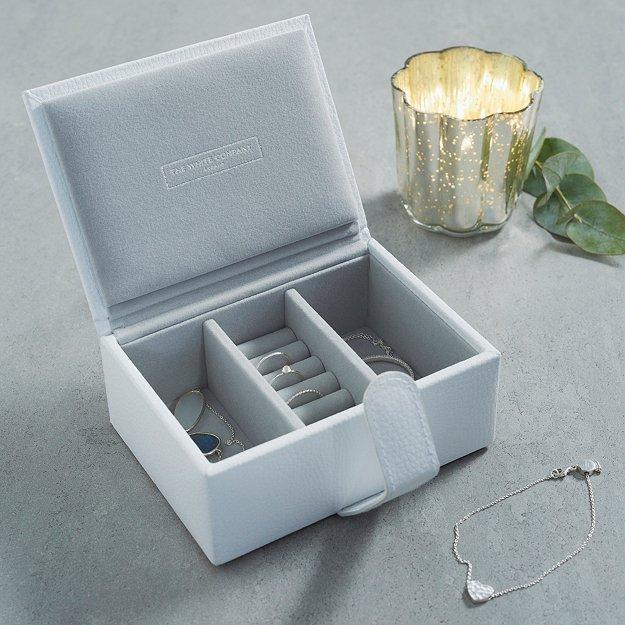 Leather Travel Jewellery Box Decorative Accessories The White Company