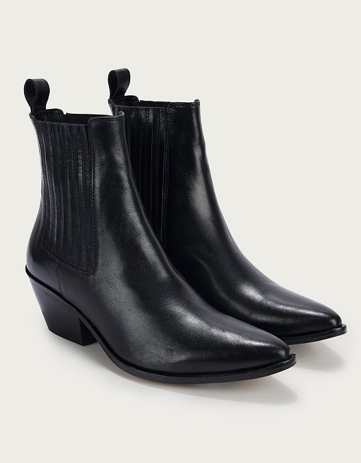 buy popular new collection 50% price Leather Western Ankle Boots