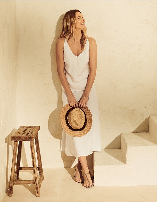 Linen A-line Skirt | Skirts | The White Company UK