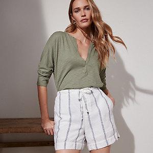 Linen Drawstring Shorts