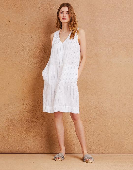 1db21d3763c Linen Stripe Shift Dress