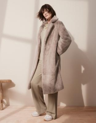 Long Faux-Fur Coat