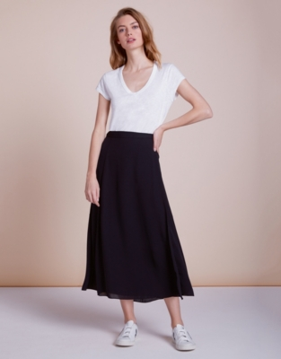 42e40ede3fec Longline Wrap Midi Skirt | Shorts & Skirts | The White Company UK
