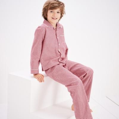 Mini Gingham Flannel Pyjamas (1-12yrs)