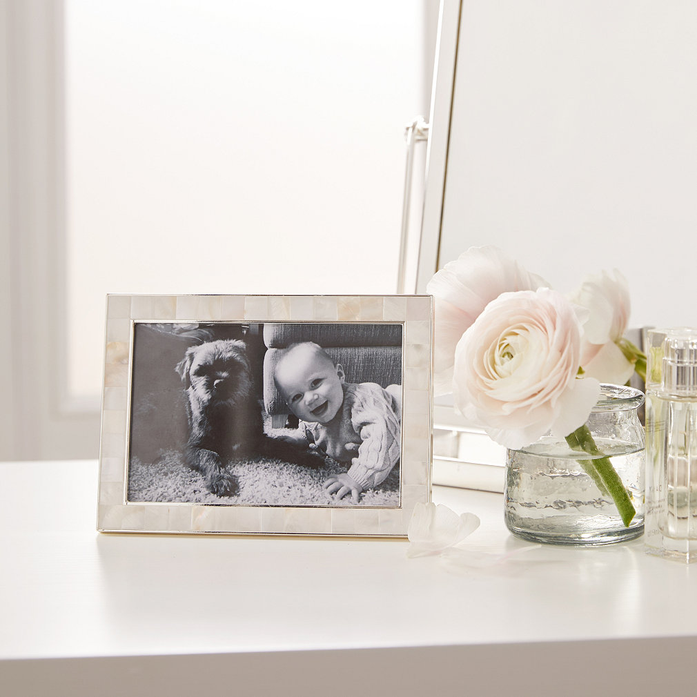 Mother Of Pearl Photo Frame 4x6 Photo Frames The White Company Uk