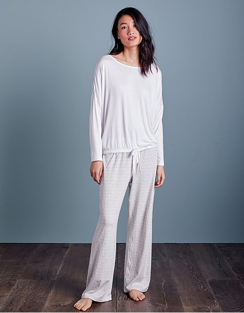 8df35ba2f5 Metallic Stripe Tie Detail Pyjama Set