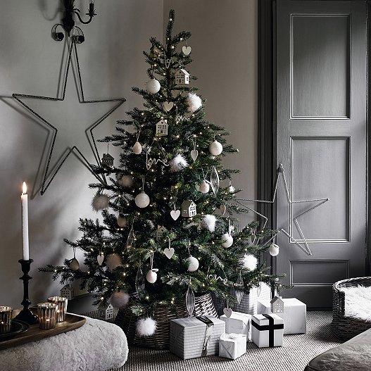 Medium White Christmas Decoration Bundle For 6ft Tree