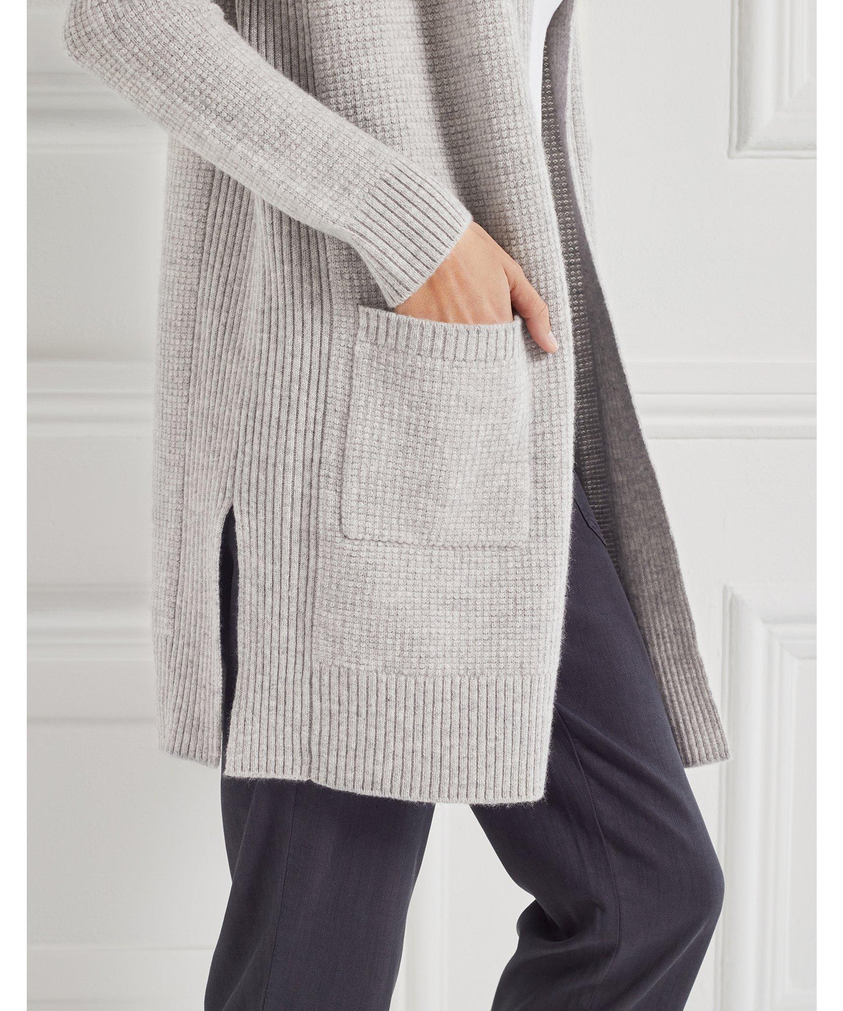 Merino Textured Stitch Cardigan
