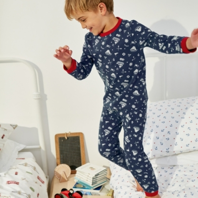 Nautical Print Jersey Pyjamas (1-12yrs)