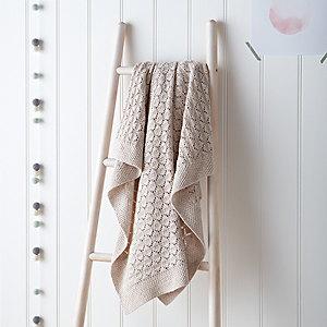 Natural Heirloom Baby Blanket