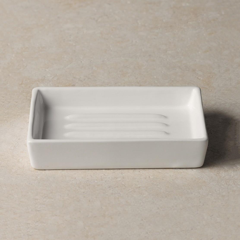 Newcombe Ceramic Soap Dish Bathroom Accessories The White Company Us
