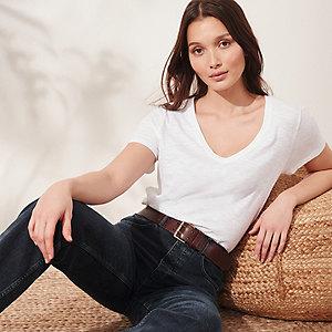 Organic-Cotton V-Neck T-Shirt